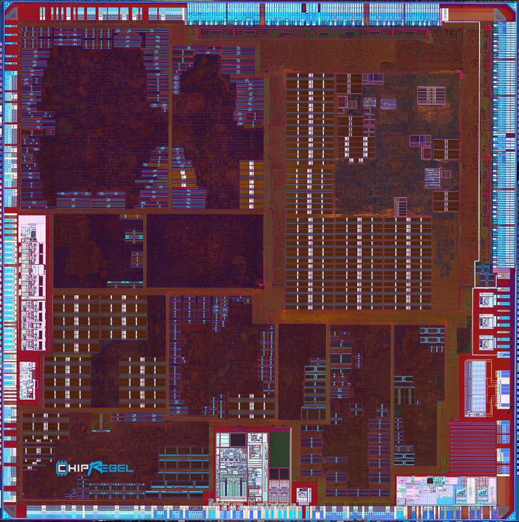 Apple's A4 chip backside overview